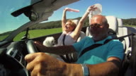 HD SLOW-MOTION: Having Fun In A Convertible video