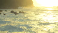 Hawaiian Ocean Waves UAV drone aerial shot video