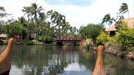 Hawaiian tropics from canoe video