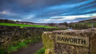 Haworth Village Sign - Time Lapse video