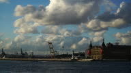 Haydarpasa Train Station Building with Jetty, Port and Puffy Clouds at Istanbul video