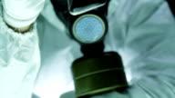 Hazardous Liquid Man Gas Mask Research Radiation video