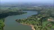 Hazelmere Dam Nature Reserve  - Aerial View - KwaZulu-Natal,  eThekwini Metropolitan Municipality,  Ethekwini,  South Africa video