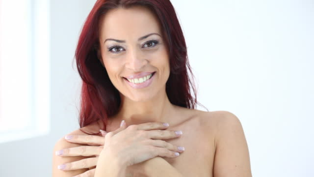 HD1080:Smiling red hair woman video