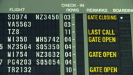 HD:Airplane flight information board at airport. video