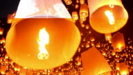 HD:Amazing Yi Peng festival in thailand. video