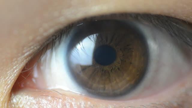 HD:Asian human eye macro lens video