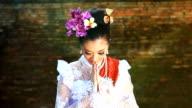 HD:Beautiful Thai women show Thailand's greeting style. video