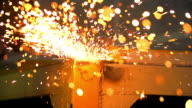 HD:Blurred sparks from grinding steel.(Slow motion) video