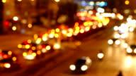 HD:Bokeh light car video