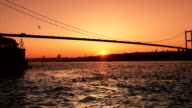 HD:Bosphorus Bridge. **Time Lapse** video