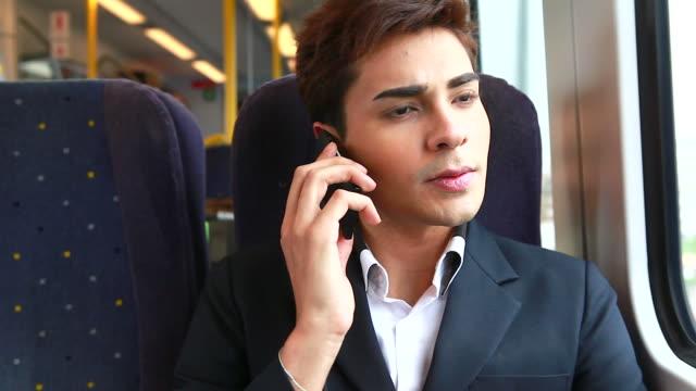 HD:Businessman talking on cellphone. video