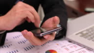 HD:Businessman working by using tablet. video