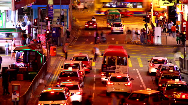 HD:Busy traffic at rush hour in Hongkong.(Timelapse) video