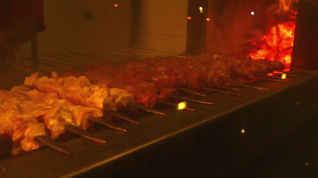 HD:Charcoal Burning in BBQ in the Fireplace Frame Background. video