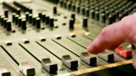 HD:Close-up Live Mixing Desk video