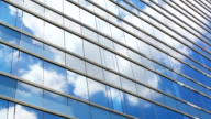 HD:Cloud reflection with building glass(Timelapse) video