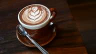 HD:Coffee art in coffee shop video movement video