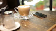 HD:Coffee in the cafe with relax time video