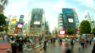 HD:Crowd people walking on the road at shibuya junction. video