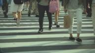 HD:Crowd people walking on the road in tokyo,Japan video