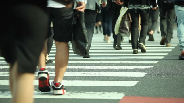 HD:Crowd people walking on the road. video