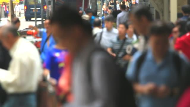 HD:Crowd people walking on the road.(Timelapse) video