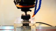 HD:Cutting iron metal machine video