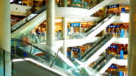 HD:Escalator in shopping mall. video