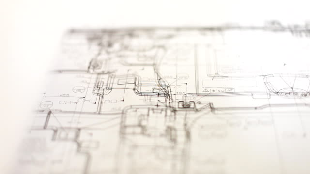 HD:Hand checking blueprint work. video