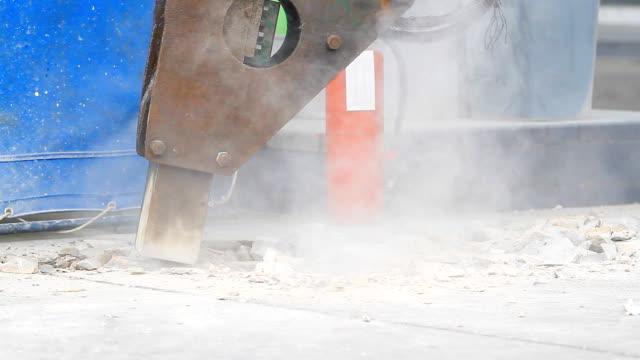HD:Jackhammer during work. video