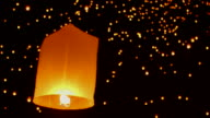 HD:Lantern floating in the air. video