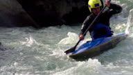 HD:Male Kayaker Boating in Whitewater video