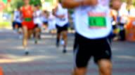 HD:Marathon running(Soft focus) video