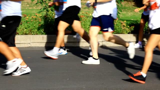 HD:Marathon running video