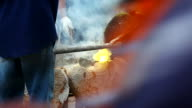 HD:Molten Gold being poured into Ingot moulds video