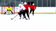 HD:M.S.Shot of Hockey Players Duelling video