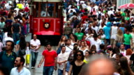 HD:Nostalgic red tram in Istiklal Street video