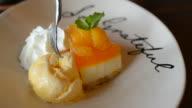 HD:Orange cake and cream video