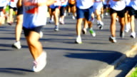 HD:People running in marathon. video