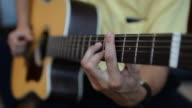 HD:Playing acoustic guitar video