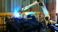HD:Robot arm welding. video