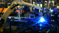 HD:Robotic arm welding. video