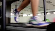 HD:Running on a treadmill video