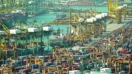 HD:Rush hour in shipyard. video