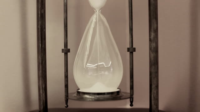 HD:Sand drop in the sandglass. video