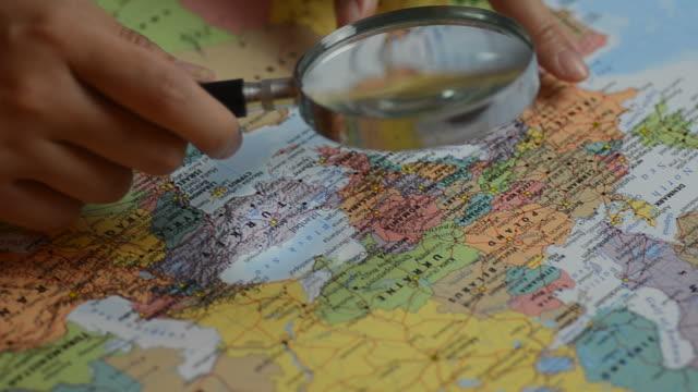 HD:Scandinavia focus for destination on the map video