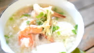 HD:Seafood boiled rice for fresh morning video