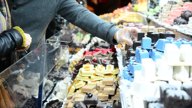 HD:Select Chocolate at christmas market video