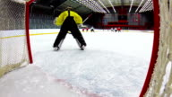 HD:Shot of Ice Hockey Team Scoring video